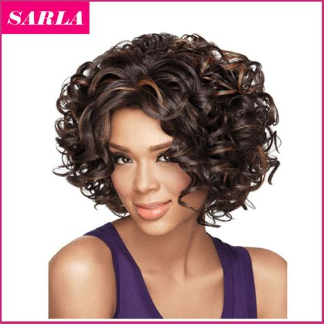 american n wavy hairstyles free shipping 1pc short synthetic wigs natural curly wig