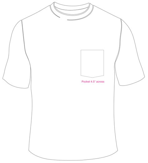 T Shirt With Pocket Template printable t shirt pocket template studio design gallery best design