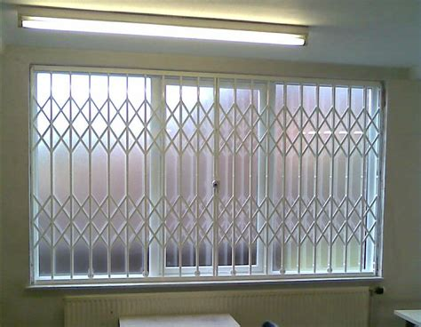 Decorative Security Window Bars by Folding Concertina Security Grilles For Home Business