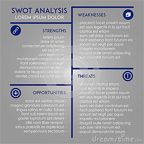 marketing swot analysis template analysis template swot in marketing stock vector image