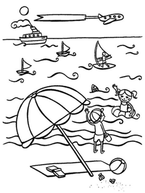 dibujos infantiles para colorear del verano verano dibujos para colorear