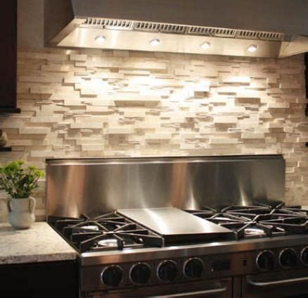 stone backsplashes for kitchens stack stone ledger panels backsplash tile pinterest