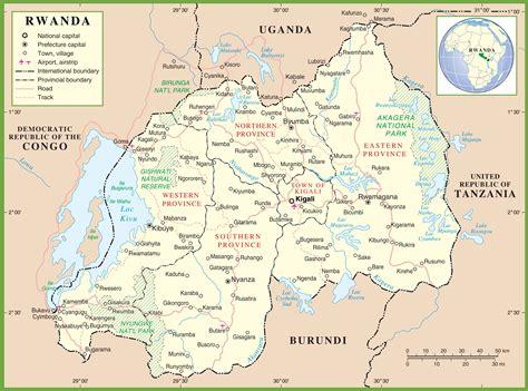 rwanda map rwanda political map