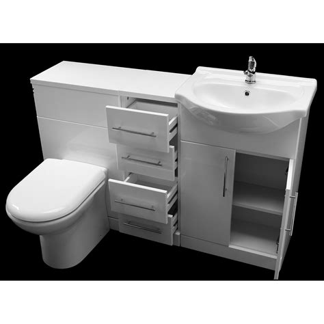 Bathroom Set Remax allbits white gloss wcbination vanity unit