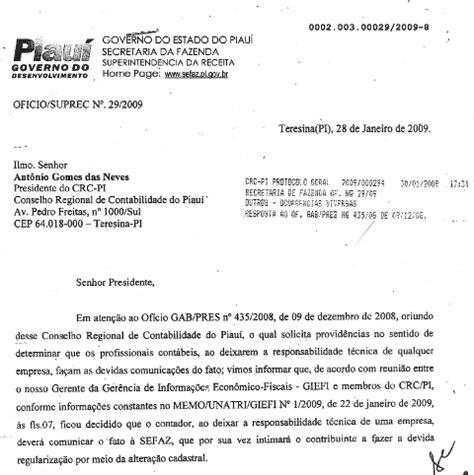 carta de transferencia de responsabilidade tecnica responsabilidade t 233 cnica transfer 234 ncia de responsabilidade t 233 cnica junto 224 sefaz crc pi