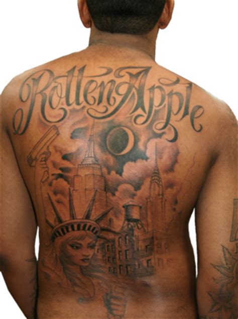 lloyd banks back tattoo psd detail lloyd banks rotten apple official psds