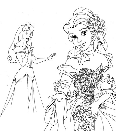 coloring pages free princess free printable disney princess coloring pages for