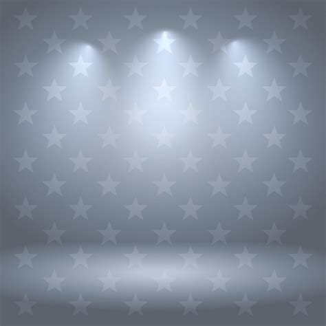 gray studio gray studio background with stars and lights vector free