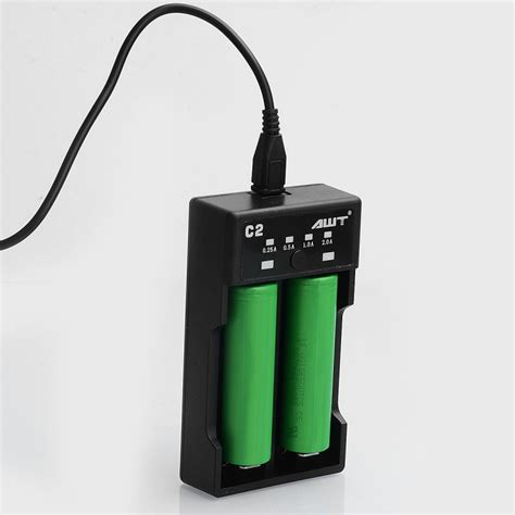 Awt Fast Carging 2slot Othen authentic awt c2 2a black 2 slot charge battery charger