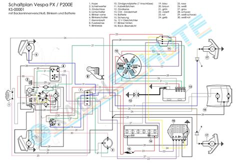 vbb vespa wiring diagram vespa seats wiring diagram