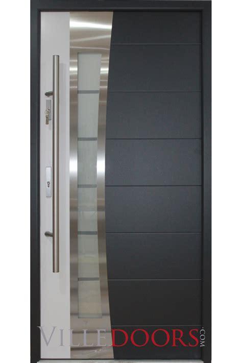 Metal Exterior Doors Quot Porto Quot Stainless Steel Modern Exterior Door