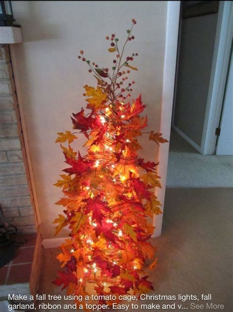does walmart trees make a fall tree with a tomato cage home depot lowes