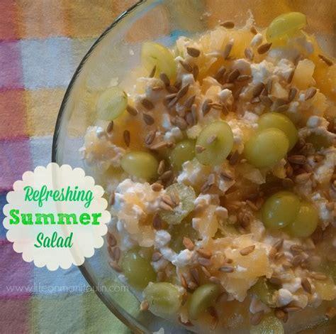 refreshing summer salad pineapple green grape cottage