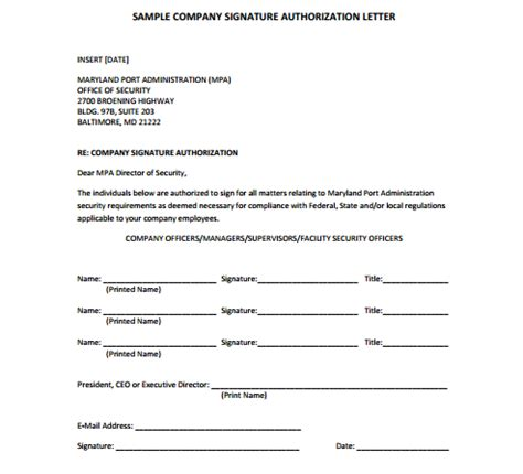 signature authorization letter format for bank signature authorization letter writing professional letters