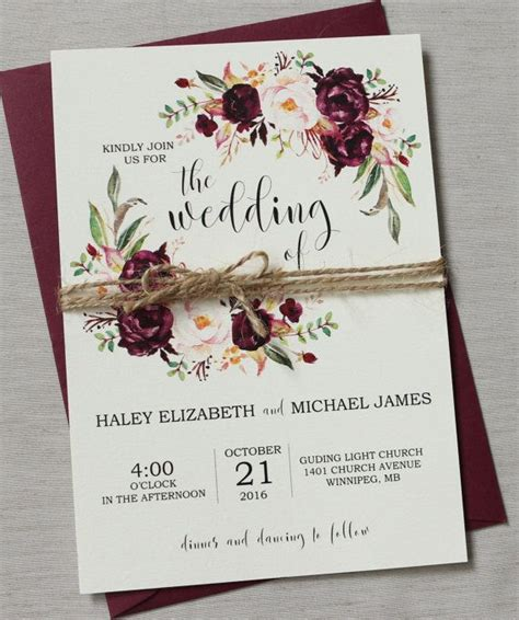 Wedding Invitation Card Suite With Flower Templates by Best 25 Floral Wedding Invitations Ideas On
