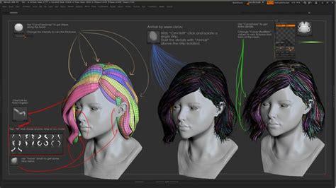 zbrush hair tutorial fibermesh 89 best z working images on pinterest character art