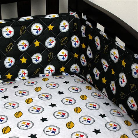 pittsburgh steelers bedding nfl pittsburgh steelers crib bumper football baby bedding