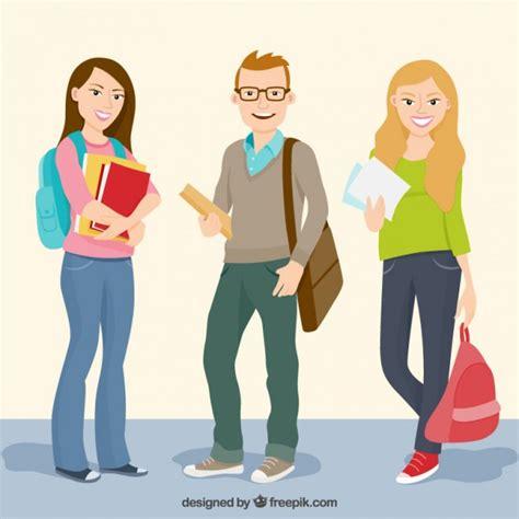 imagenes gratis estudiantes estudiantes felices de universidad descargar vectores gratis
