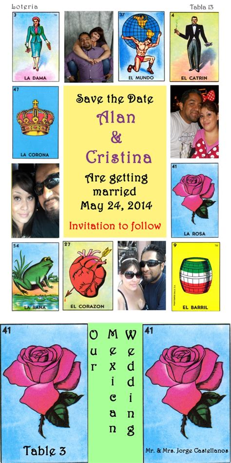 Mexican Chalupa Card Template by Our Save The Date Table Numbers And Name Cards I Made
