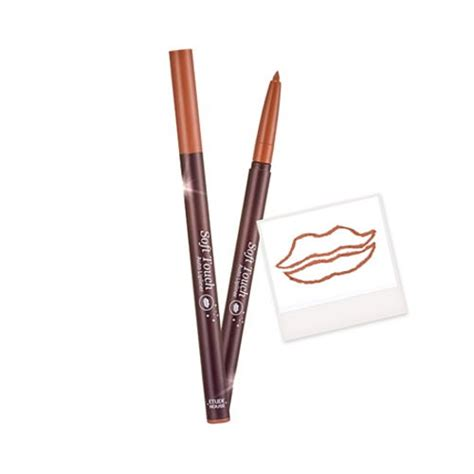 Lip Liner Etude etude house soft touch auto lip liner 2 pink beige beautyjoint