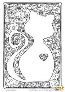cat coloring pages for adults free mindful coloring pages
