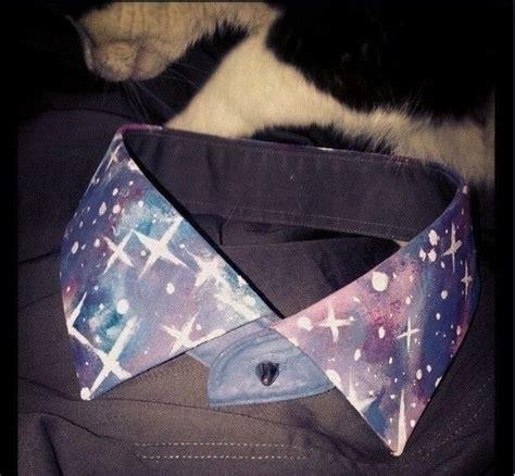 Galaxy Animal Collar Pin galaxy print collar 183 a shirt collar 183 and no sew on