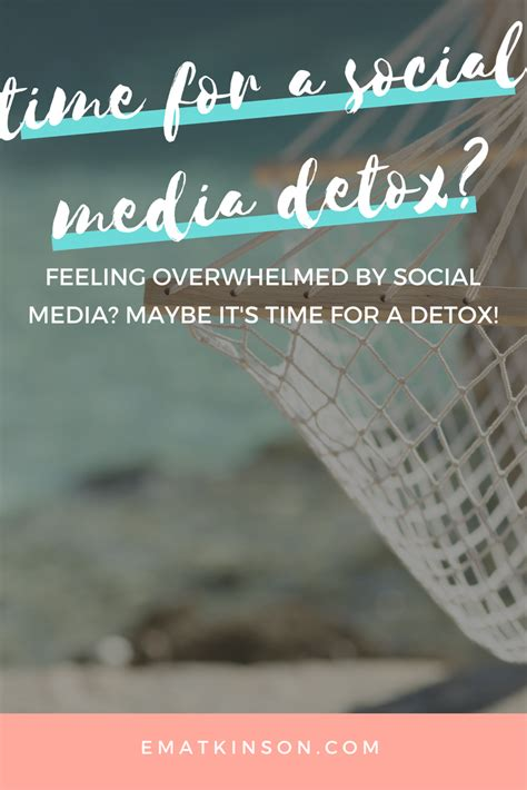 Social Media Detox Week by Is It Time For A Social Media Detox Emily Atkinson