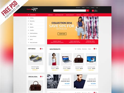 Multipurpose Ecommerce Website Template Psd Psdfreebies Com Html Template For Ecommerce Site Free
