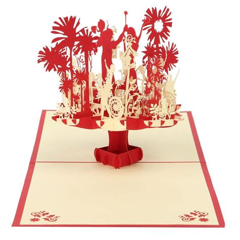 Origami Pop Up Greeting Cards - 3d handmade kirigami origami greeting cards