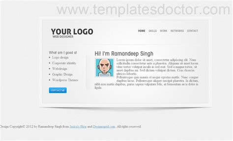 templates blogger portfolio download portfolio blogger templates free beautiful theme