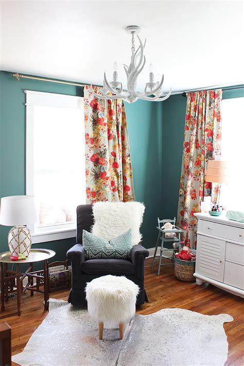 Cowhide Rug Nursery - rosie s new nursery cowhide rugs and floral curtains