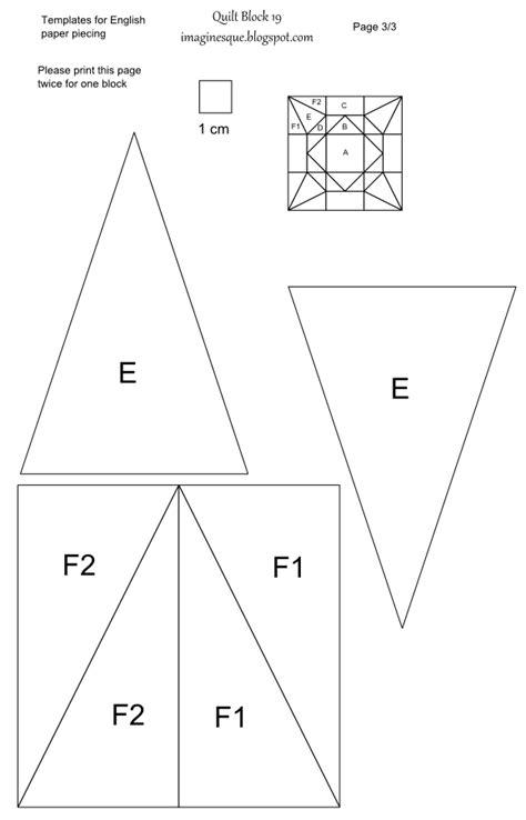 foundation templates imaginesque quilt block 19 templates for epp