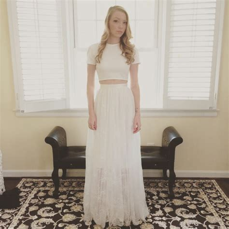 wedding pencil skirt dress with a separate by tingbridal