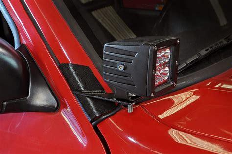 jeep tj windshield lights led light lower windshield mounting brackets for 84 01