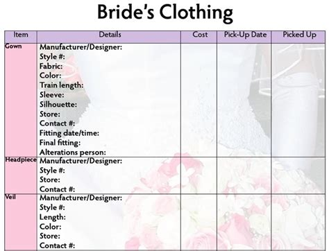 Wedding Accessories List by Bridal Accessories