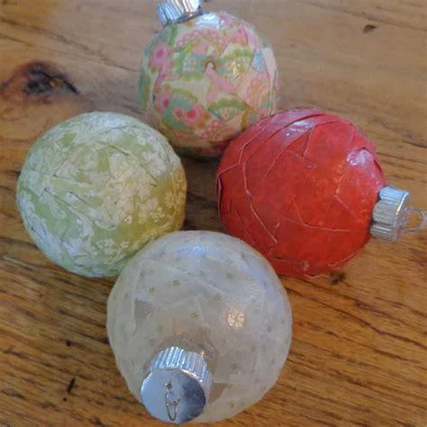 Decoupage Ornament - decoupage ornaments tutorial