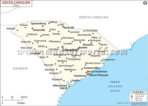 south carolina city map south carolina city map maps of the world