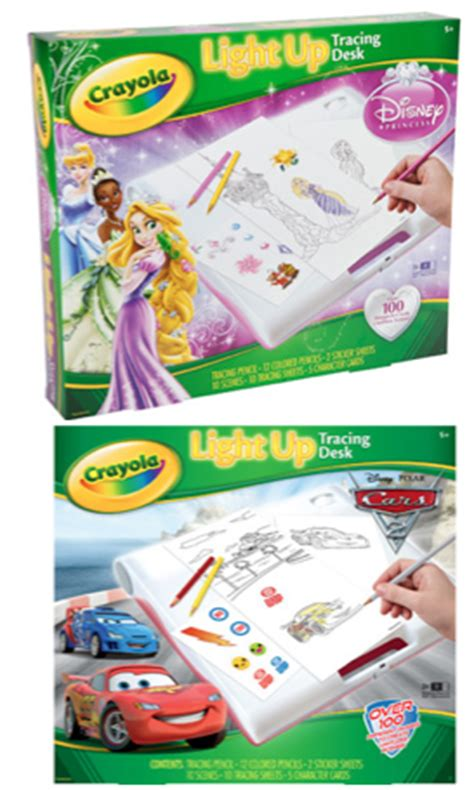light up tracing desk walmart crayola disney cars 2 or princess light up