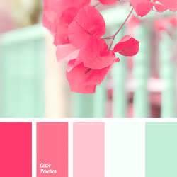 pink color scheme mint and pink color palette ideas