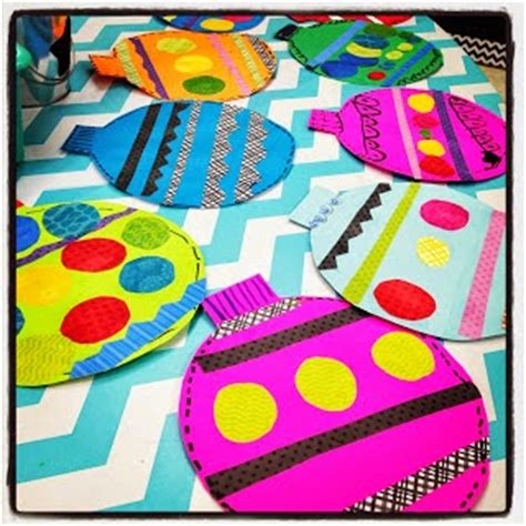 christmas art ideas for second grade class crafts in the classroom easy bulletin board grade blue skies