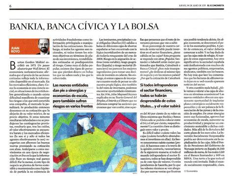 Corn癡r Banca Sa by El De La Rsc Bankia Banca C 237 Vica Y La Bolsa El