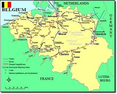 belgium rivers map belgium waterways map