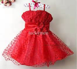 Girl party dresses red baby lace princess dress fashion christmas