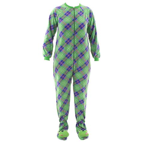 Footed Sleepers by Green Plaid Frog Footed Pajamas For