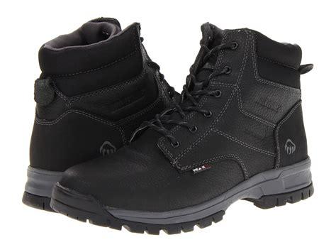 wolverine joliet peak 174 ag waterproof 6 quot boot in black for