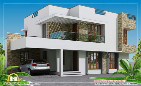 contemporary home design 2304 sq ft indian house plans