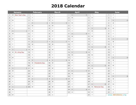 2018 Calendar Wikidates Org Calendar Template 2018