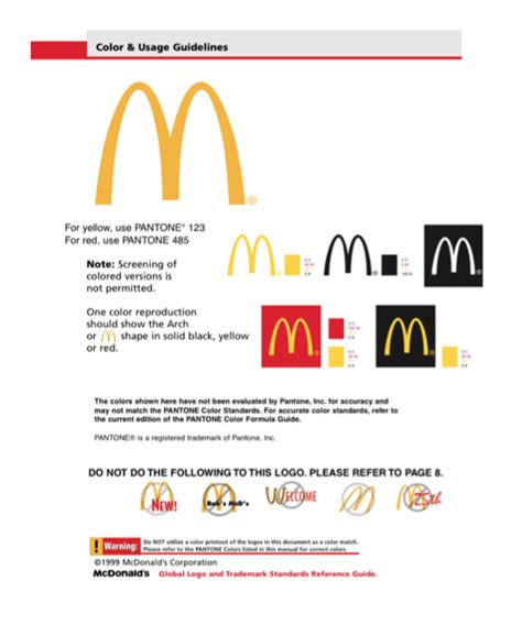 Cop3 Practical Research Mcdonalds Brand Guidelines