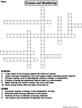 puzzle corner the science spot erosion worksheet resultinfos