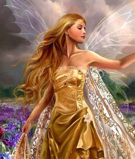 fairy queen golden fairy queen artist unknown fairies